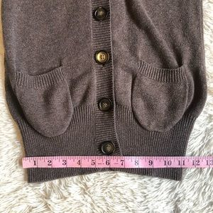 Zara Sweaters - Zara Brown Button Front  Cardigan Front Pockets S